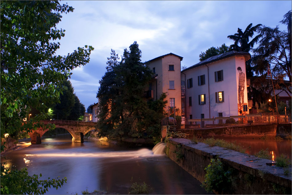 St.Gerardino's bridge, Lambro river, Monza, Italy