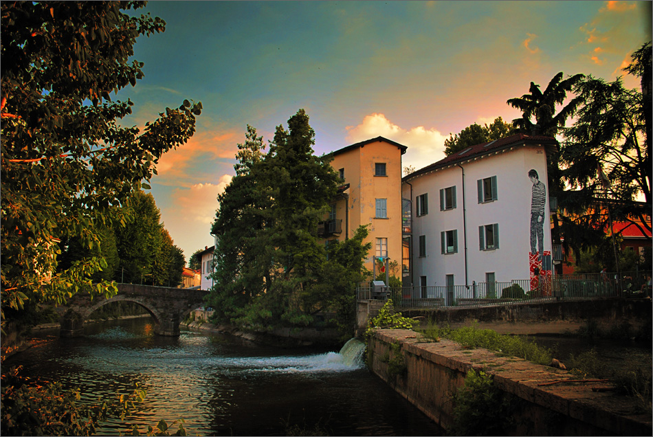 St. Gerardino's bridge, Lambro river, Monza, Italy